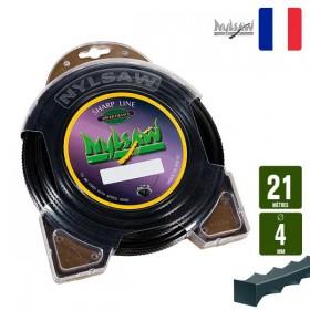 Μεσινέζα χορτοκοπτικού οδοντωτή 4mm 21m  Nylsaw