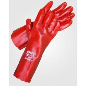 Γάντια Πετρελαίου Κόκκινα 27 εκατοστά μήκος