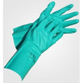 Γάντια νιτριλίου χημικών πράσινα 30 εκατοστά