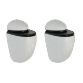 Βάσεις Ραφιών σε Λευκό 2 Τεμάχια  Mini