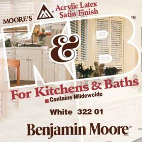 Χρώμα 322 Kitchen & Bath Αντιμουχλικό της Benjamin Moore